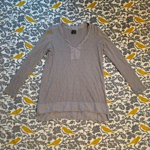Anthro Left of Center Grey Mae Tunic EUC Size S